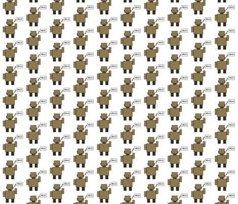 robot fabric by mayabella on Spoonflower - custom fabric
