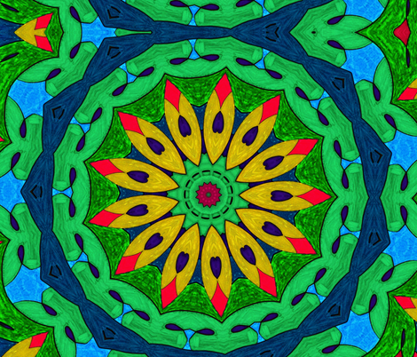 Tropicali Kaleidoscope 2 fabric by audarrt on Spoonflower - custom fabric