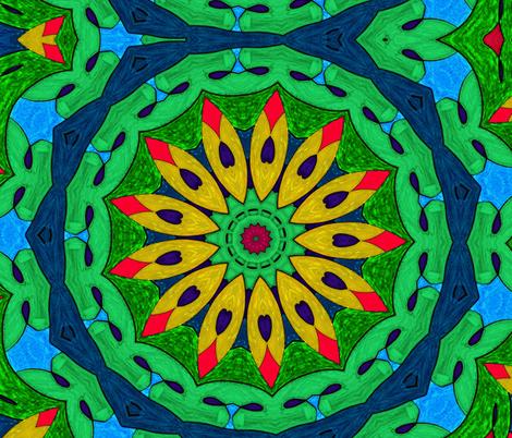 Tropicali Kaleidoscope 2 fabric by audarrt on Spoonflower - custom fabric