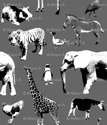 Zoo Animal Fabric