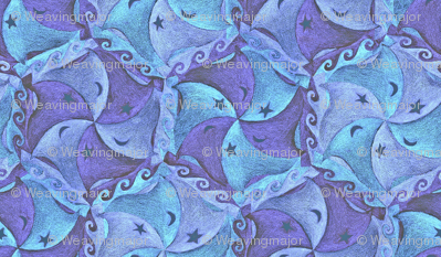 chalk blue regatta tessellation