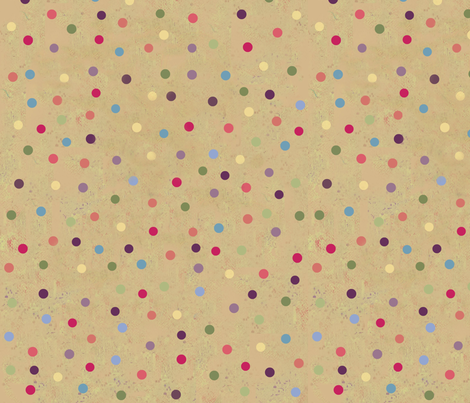 Retro Kitty / Dots  fabric by paragonstudios on Spoonflower - custom fabric