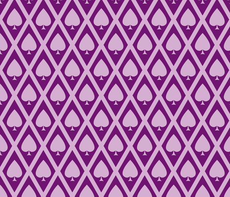 Umbria's Spades in Violet fabric by siya on Spoonflower - custom fabric