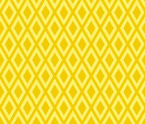 Ruby's Diamonds in Yellow fabric by siya on Spoonflower - custom fabric