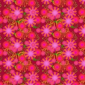 fleur de bohème rouge