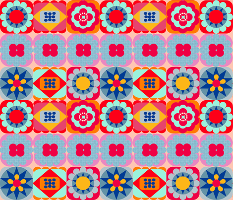Plain & Fancy Mash-Up fabric by joybucket on Spoonflower - custom fabric