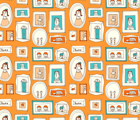 family frames fabric by mummysam on Spoonflower - custom fabric