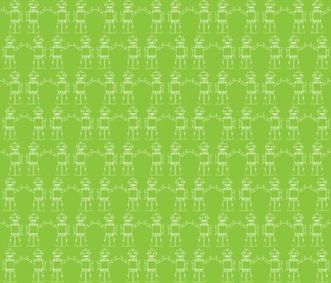 I am a Robot fabric by mondaland on Spoonflower - custom fabric