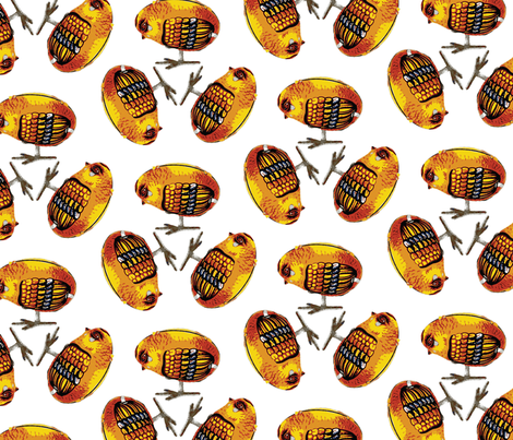 robotchicks-koliori fabric by koliori on Spoonflower - custom fabric