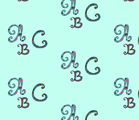 ABC Letters fabric by captiveinflorida on Spoonflower - custom fabric