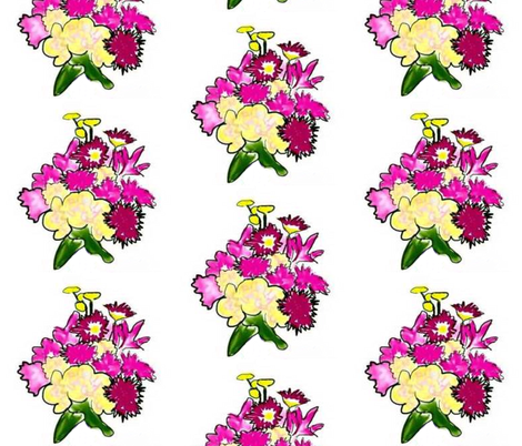 Bright Bouquet half drop  fabric by jan4insight on Spoonflower - custom fabric