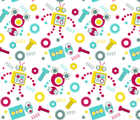 Broken Robots fabric by eedeedesignstudios on Spoonflower - custom fabric