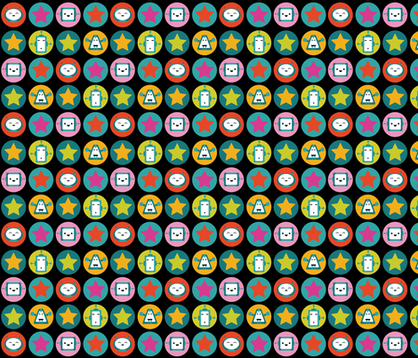 Robot Love - Color fabric by fuzzyskyfabric on Spoonflower - custom fabric