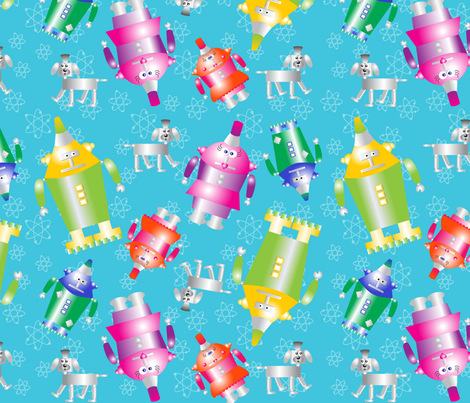 The_Robotstones fabric by deesignor on Spoonflower - custom fabric
