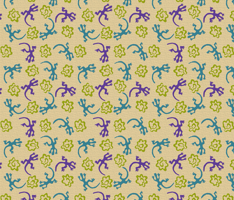 Lizard Spiral fabric by kdl on Spoonflower - custom fabric
