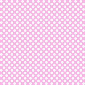 Polka Dots light pink x white