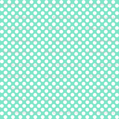 Polka Dots mint x white