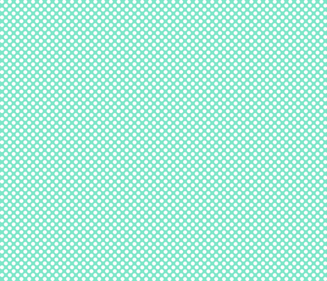 Polka Dots mint x white fabric by mezzo on Spoonflower - custom fabric