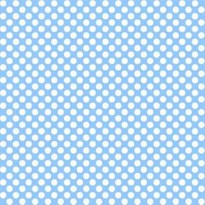 Polka Dots blue x white