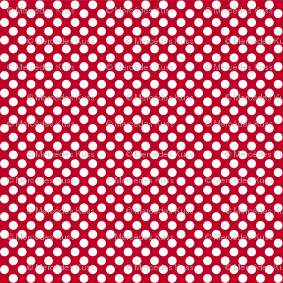 Polka Dots red x white