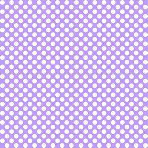 Polka Dots violet x white