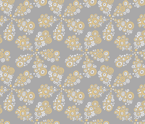 bubbled_flowers fabric by renule on Spoonflower - custom fabric