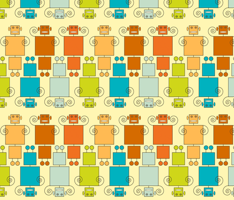 Robot7 fabric by kellygammon on Spoonflower - custom fabric
