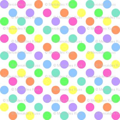 Polka Dot Rainbow Fabric Mezzo Spoonflower