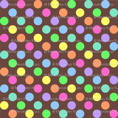 Polka Dot Rainbow brown