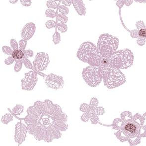 Crocheted Flower Garden (lavender colorway)