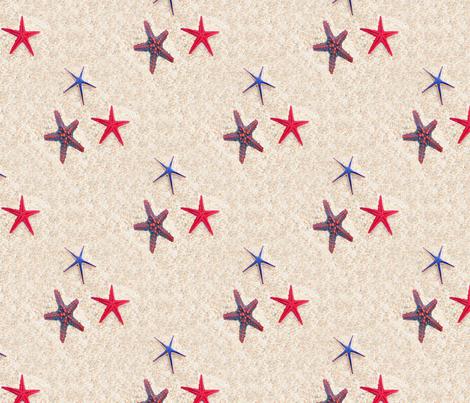 Starfish Beach fabric by farrellart on Spoonflower - custom fabric