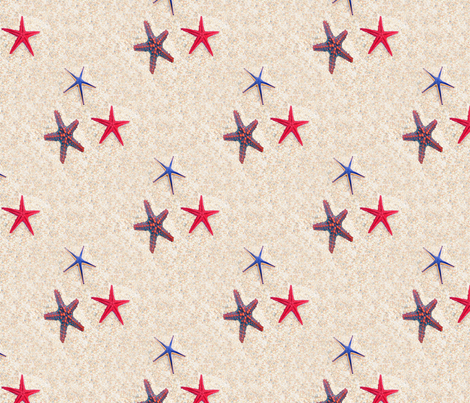 Starfish Beach fabric by farrellart on Spoonflower - custom fabric