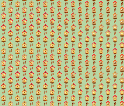 cuckoo clock repeat fabric by heidikenney on Spoonflower - custom fabric
