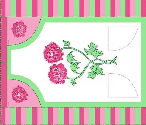 Love Peonies fabric by jasmo on Spoonflower - custom fabric
