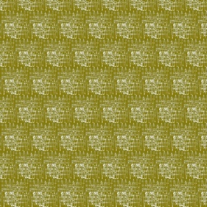 Neutral abstract white on olive