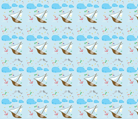 Shipwreck fabric by kiwicuties on Spoonflower - custom fabric