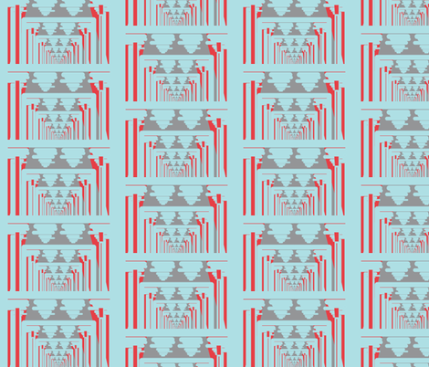 Optical Boxy Baby Blue fabric by dolphinandcondor on Spoonflower - custom fabric