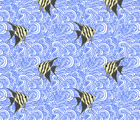 Weird Fishes (Angelfish) fabric by leighr on Spoonflower - custom fabric