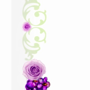 """52"""" Cloth Violets and Roses Shell Border"""
