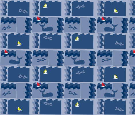 Smooth Sailing fabric by acbeilke on Spoonflower - custom fabric