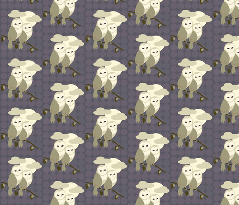 Barn Owls fabric by kiwicuties on Spoonflower - custom fabric