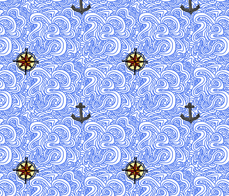 Neptune's Call fabric by leighr on Spoonflower - custom fabric