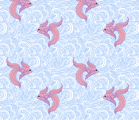 Weird Fishes (Choked) fabric by leighr on Spoonflower - custom fabric