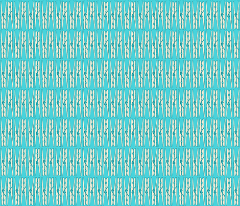 Fabric-Bar-Clothespins-Blue fabric by natalie on Spoonflower - custom fabric