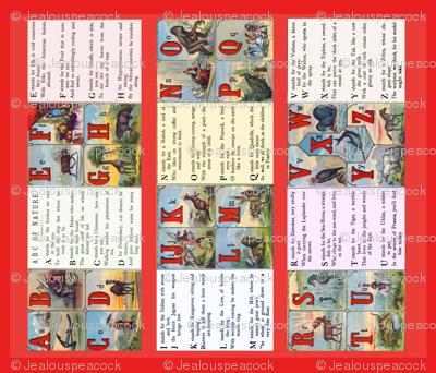 vintage ABC quilt panel