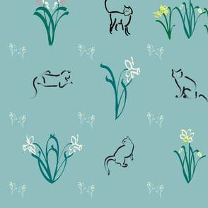Cats-n-daffs-fabric