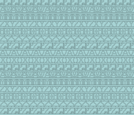Avignon texture light aqua fabric by mina on Spoonflower - custom fabric