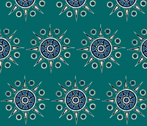 Mandala2-fabric fabric by mina on Spoonflower - custom fabric