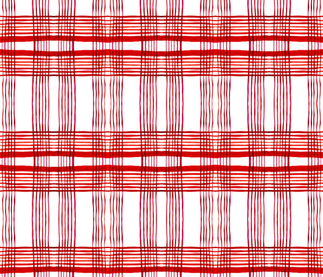 C'EST LA VIV Kitchen Plaid ~ Red Pepper fabric by cest_la_viv on Spoonflower - custom fabric