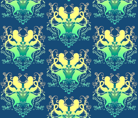Mermaids fabric by jadegordon on Spoonflower - custom fabric
